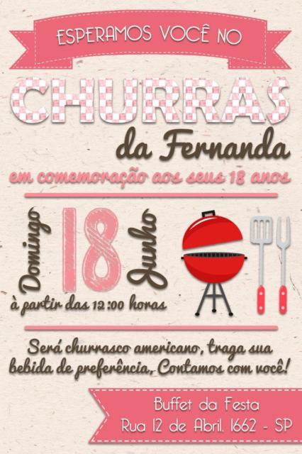 Convite Churrasco 40 Modelos P Convidar Seus Amigos E Família