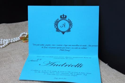 convite formatura festa azul tiffany
