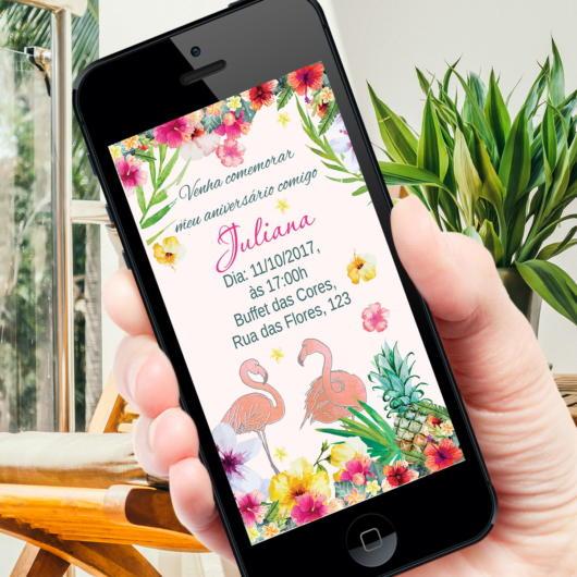convite flamingo digital
