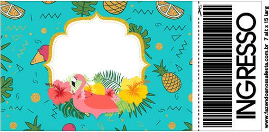 convite flamingo para imprimir
