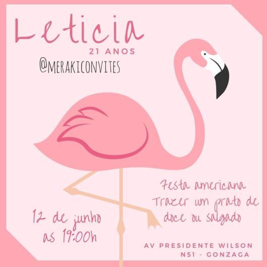 Convite rosa de flamingo