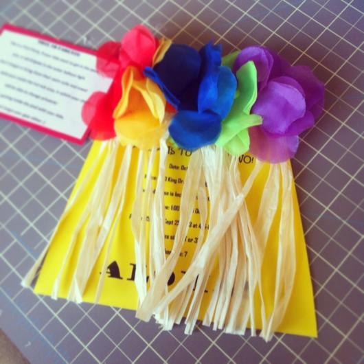 convite havaiano com criatividade