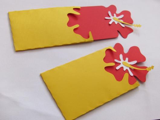 convite havaiano criativo e funcional