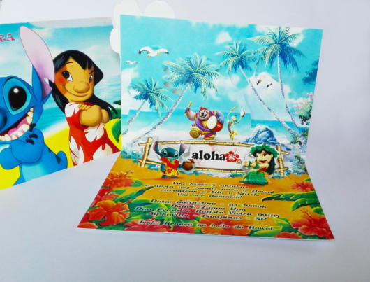 convite havaiano impresso lindo