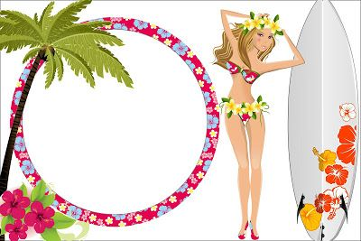 modelo para convite havaiano