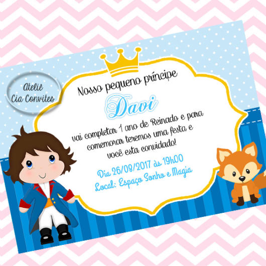 Convite Pequeno Príncipe 40 Ideias Fofas E Modelos P Imprimir