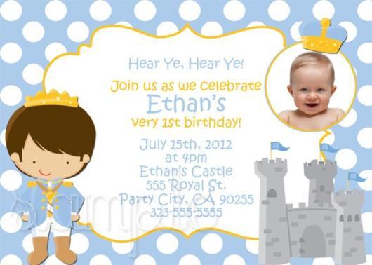 Convite Pequeno Príncipe para uma festa baby inesquecível