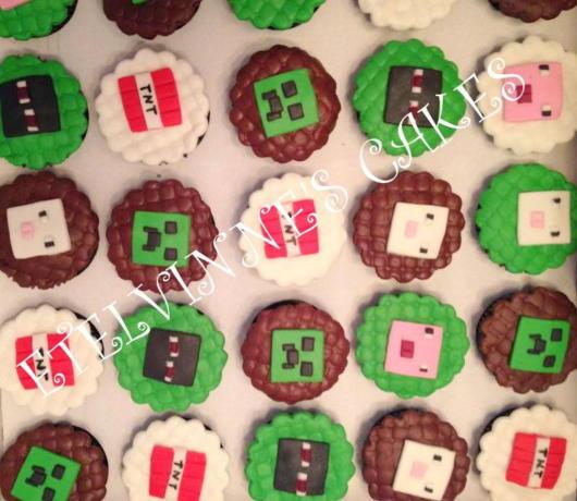 O acabamento faz toda a diferença em seu cupcake Minecraft