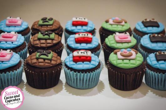 Um acabamento lindo que faz toda a diferença em seu cupcake Minecraft