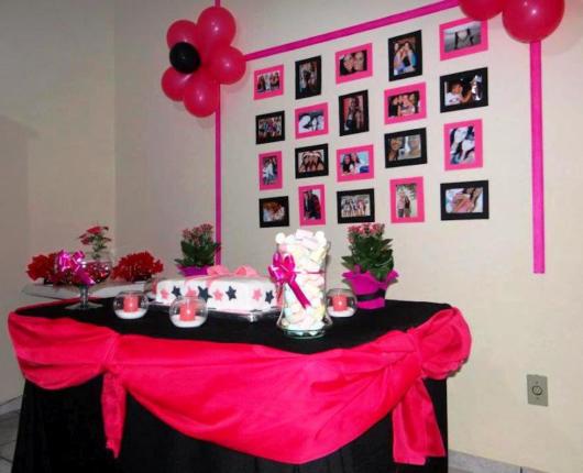 Decoração rosa com preto