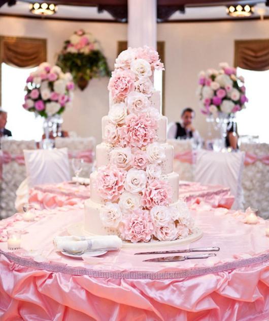decoração rosa para casamento