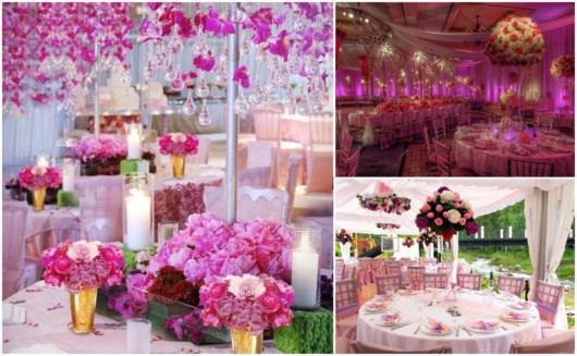 As flores ajudam a decorar sua festa rosa