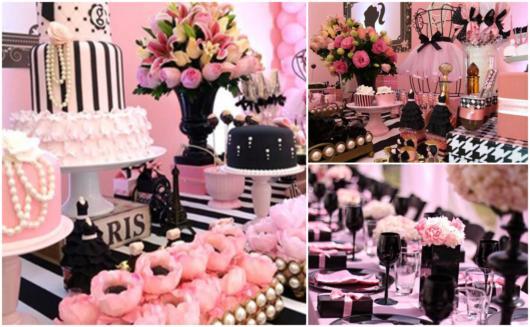 Dicas de decoração rosa com preto