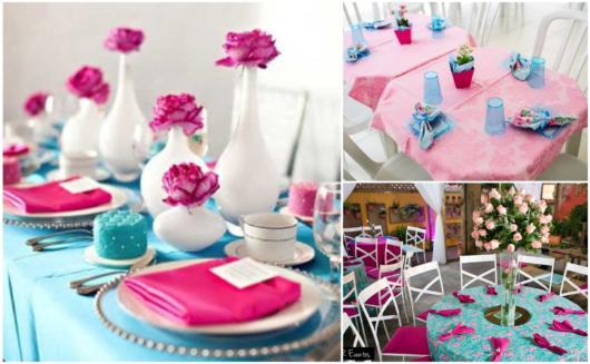 Dicas de decorar sua festa com rosa e azul
