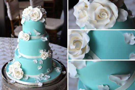 bolo decorado festa azul tiffany
