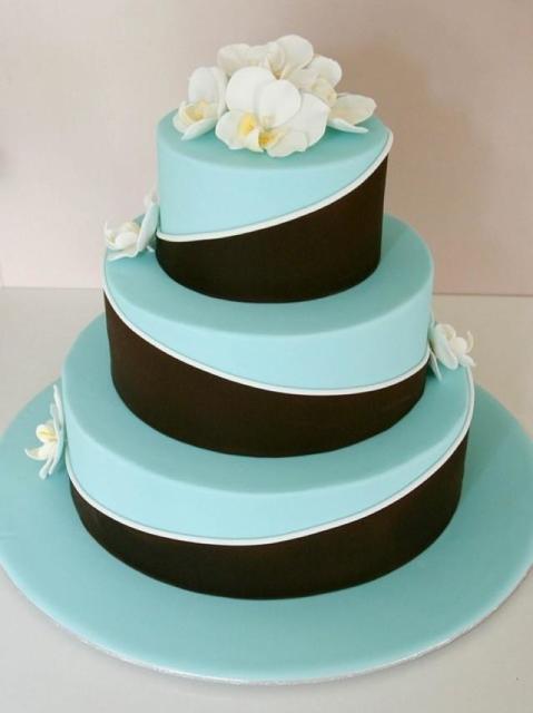 bolo três andares festa azul tiffany