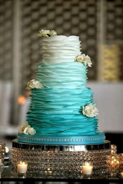 bolo festa azul tiffany