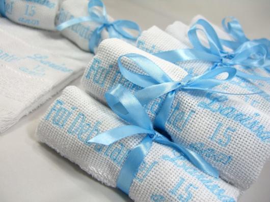 toalha festa azul tiffany