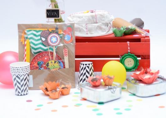 Festa na caixa infantil: simples