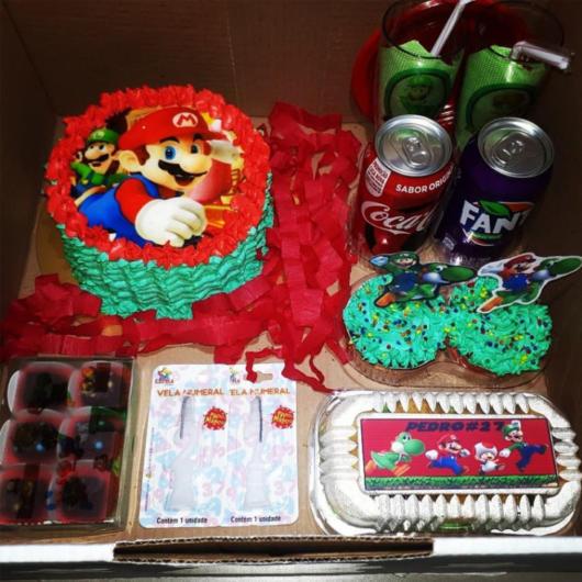 Festa na caixa infantil: Super Mario Bros