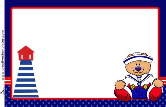 convite pronto festa ursinho marinheiro