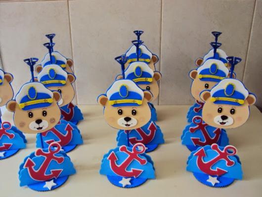 lembrancinha EVA festa ursinho marinheiro