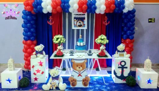 mesa provençal de festa ursinho marinheiro