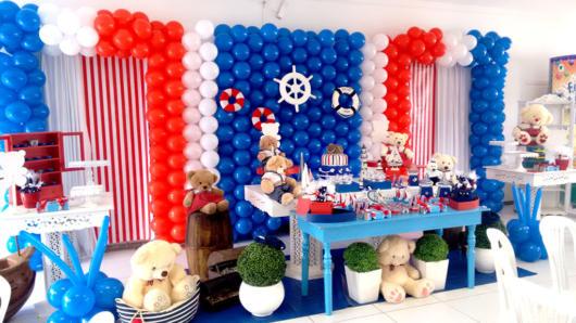 móveis azul festa ursinho marinheiro
