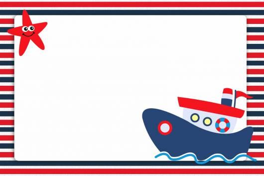 convite festa ursinho marinheiro para imprimir