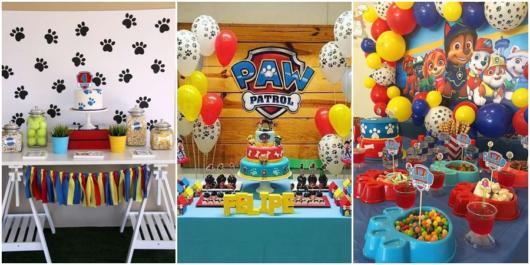 ideias para festa patrulha canina
