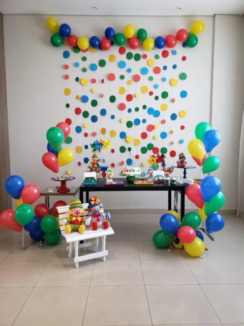 festa colorida em casa
