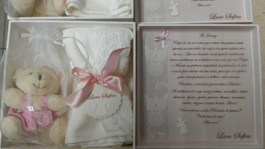 Kit presente de batizado para menina