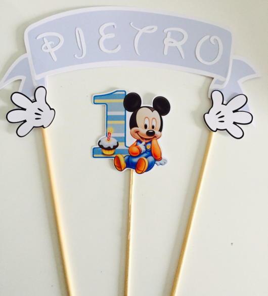 Topo do Mickey de papel para a primeira festa do seu filho