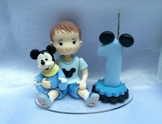 Modelo azul para a primeira festinha de seu bebê