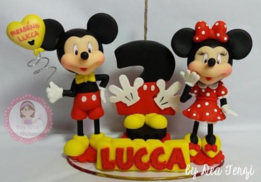 Mickey e Minnie para uma festinha infantil de 3 anos
