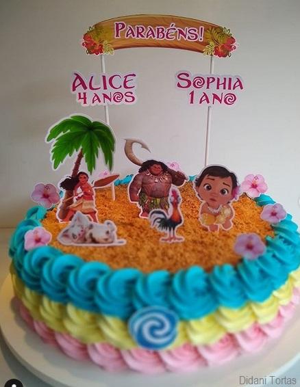 bolo colorido simples
