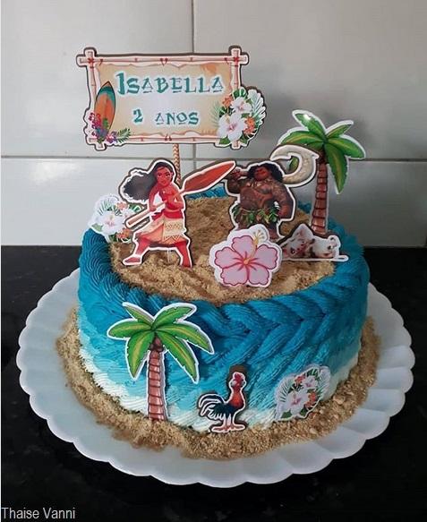 bolo temático simples