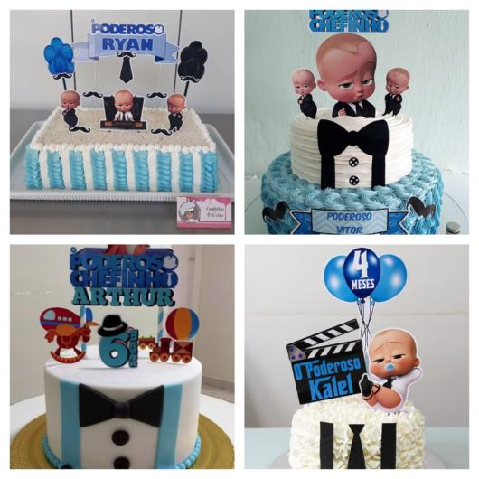 70 lindos modelos de bolo Poderoso Chefinho para festas infantis