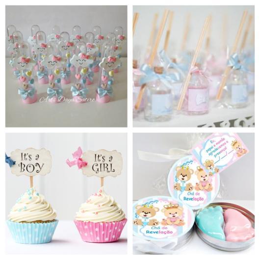 Tubetes personalizados, difusores de ambiente, cupcakes personalizados e potinhos temáticos com sabonetes