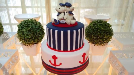 bolo pasta americana festa ursinho marinheiro