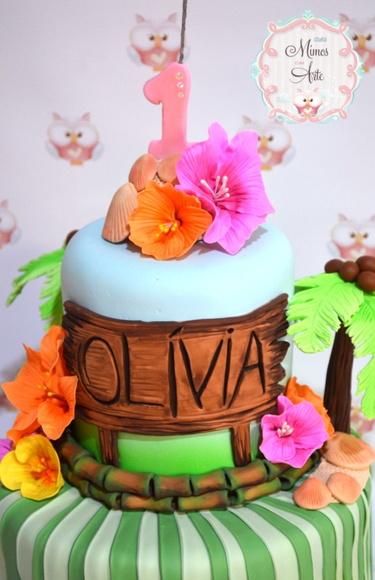 bolo feminino havaiano