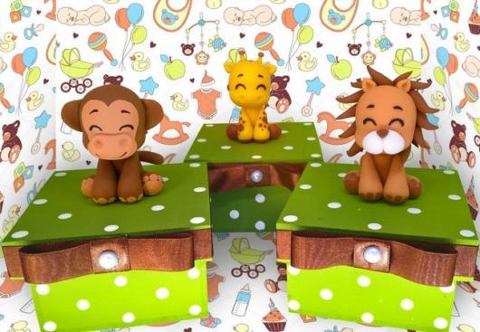 lembrancinhas chá de bebê safari