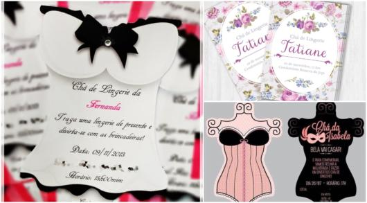modelos de convite chá de lingerie