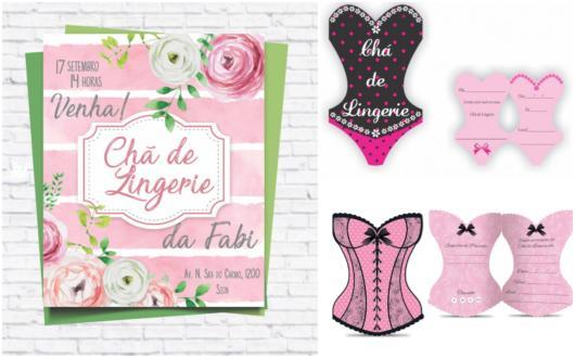 Convite Chá De Lingerie 40 Modelos Cheios De Luxo E Glamour