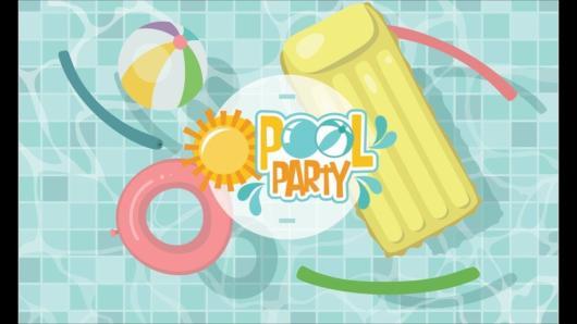 Convite pool party para editar e imprimir grátis