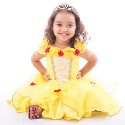 fantasia da bela infantil