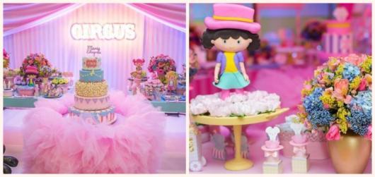 Inspire-se com festas pink com tema Circo