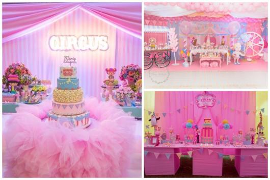 Festa circo rosa