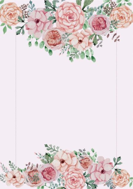 convite festa tema flores