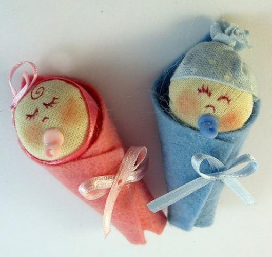 Bebês de feltro customizados e lindinhos